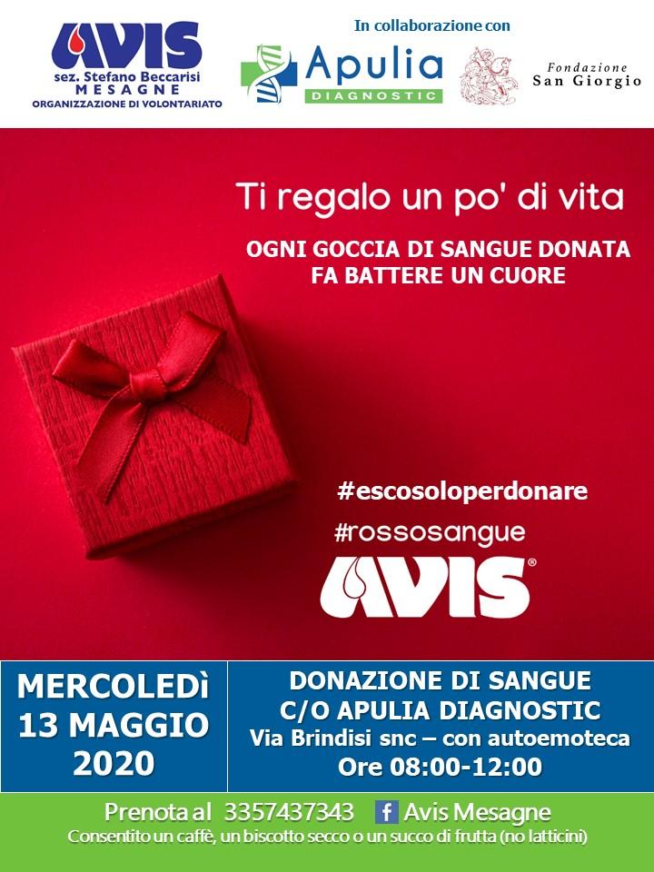 Giornata Donazione Sangue AVIS Apulia Diagnostic Mesagne